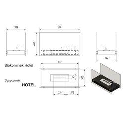Напольный биокамин Kratki Hotel