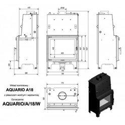Каминная топка Aquario/A/18/W с водяной рубашкой