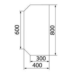 Предтопочный лист VPL063-R9005, 400 х 800, черный
