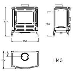 Печь H43, графит (Efel/Nestor Martin)