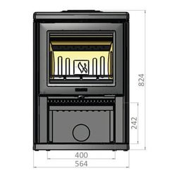 Печь K700, черный (Keddy)