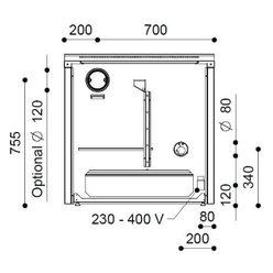 Печь-плита NEOS 90 L Thermo (J. Corradi)
