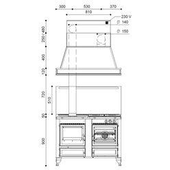 Печь-плита RUSTICA 120 LGE THERMO (J. Corradi)