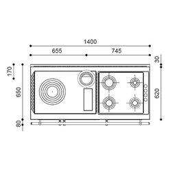 Печь-плита RUSTICA 140 LGE THERMO (J. Corradi)