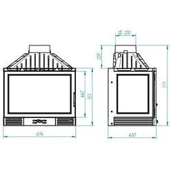 Топка 715 D CL, с заслонкой, стекло справа (Ferlux)