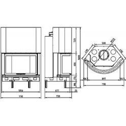 Топка AX-B 1100 PC-N (Axis)