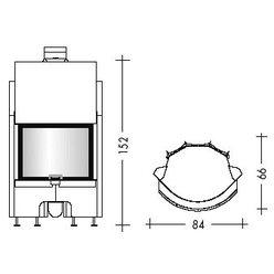 Топка AIRFIRE guillotina N curvo (EdilKamin)
