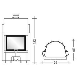 Топка AIRFIRE guillotina N piano (EdilKamin)