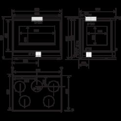 Топка 800 FV T Tri Vision, с турбиной (RLD)