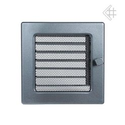 Вентиляционная решетка 17х17 графитовая с жалюзи
