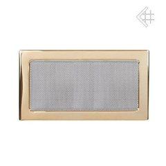 Вентиляционная решетка 22х37 полированная латунь