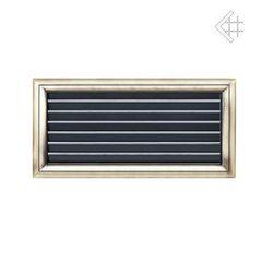 Вентиляционная решетка Оскар латунь с воздушной системой с жалюзи 17х37