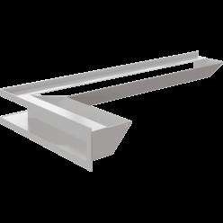 Вентиляционная решетка Люфт угловая 9/40/80 см левая белая АКЦИЯ (LUFT/NL/9/8040/45S/B)