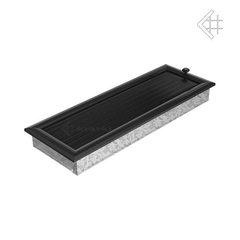 Вентиляционная решетка 17х49 оскар черная с жалюзи
