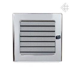 Вентиляционная решетка 17х17 никелированная с жалюзи