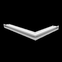 Вентиляционная решетка Люфт угловая левая белая 60 (LUFT/NL/60/45S/B)