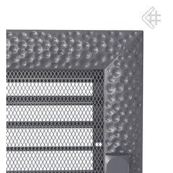 Вентиляционная решетка 17x37 Venus графитовая с жалюзи