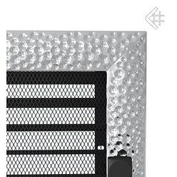 Вентиляционная решетка 17x30 Venus никелированная с жалюзи