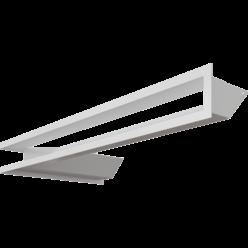 Вентиляционная решетка Люфт угловая 9/40/80 см правая белая АКЦИЯ (LUFT/NP/9/8040/45S/B)