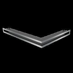 Вентиляционная решетка Люфт угловая левая стальная 60 (LUFT/NL/60/45S/SZ)