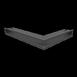 Вентиляционная решетка Люфт угловая левая графит 90 (LUFT/NL/90/45S/G)