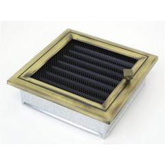 Вентиляционная решетка 17х17 Оскар латунь с жалюзи