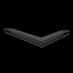 Вентиляционная решетка Люфт угловая левая черная 60 (LUFT/NL/60/45S/C)