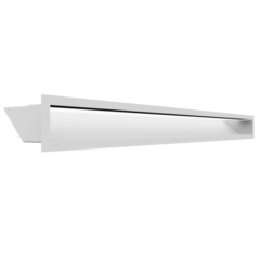 Вентиляционная решетка Люфт белая 9x100 (LUFT/9/100/45S/B/SF)