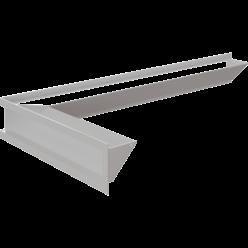 Вентиляционная решетка Люфт угловая 9/40/80 см левая белая АКЦИЯ (LUFT/NL/9/8040/45S/B/SF)