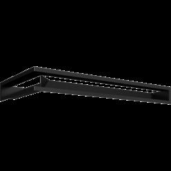 Вентиляционная решетка Люфт угловая 9/40/80 см правая черная АКЦИЯ (LUFT/NP/9/8040/45S/C)
