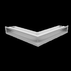 Вентиляционная решетка Люфт угловая стандарт белая 90 (LUFT/NS/90/45S/B)
