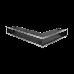 Вентиляционная решетка Люфт угловая левая стальная 9*40 (LUFT/NL/9/40/45S/SZ)