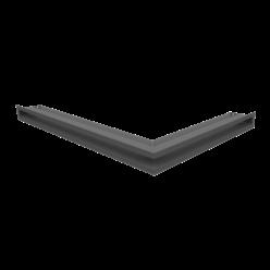 Вентиляционная решетка Люфт угловая левая графит 60 (LUFT/NL/60/45S/G)