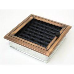Вентиляционная решетка 17х17 Оскар медь с жалюзи