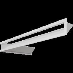 Вентиляционная решетка Люфт угловая 9/40/80 см правая белая АКЦИЯ (LUFT/NP/9/8040/45S/B/SF)
