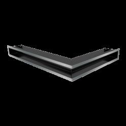 Вентиляционная решетка Люфт угловая левая стальная 90 (LUFT/NL/90/45S/SZ)
