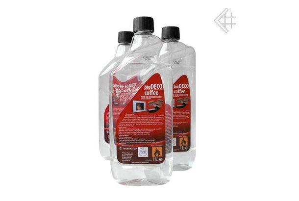 Топливо для биокамина Kratki 1 литр с запахом КОФЕ