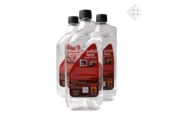 Топливо для биокамина Kratki, 1 литр с запахом ЛЕСА