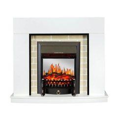 Электрический камин Royal Flame Montana белый с очагом Fobos FX M Black