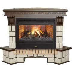 Электрокамин  Real-Flame Stone New Corner 26 с очагом 3D Novara 26