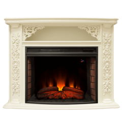 Электрический камин Real-Flame Izabella WT с очагом  FireSpace 33 S IR