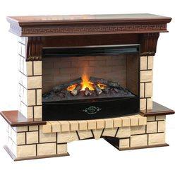 Широкий электрокамин Real-Flame Stone New 33 с очагом 3D Firestar 33