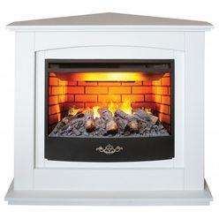 Электрокамин угловой Real-Flame Canada Corner 25.5 WT c подсветкой c очагом 3D Firestar 25,5