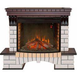 Широкий электрокамин Real-Flame Country 33 AO с очагом FireSpace 33 S IR