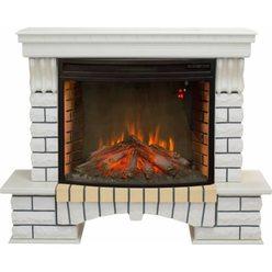 Широкий электрокамин Real-Flame Country 33 WT с очагом FireSpace 33 S IR
