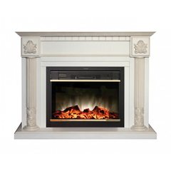Электрический камин Real-Flame Imperia WT с очагом Moonblaze Lux Bl/Br
