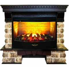 Электрический камин Real-Flame Kansas 33 AO с очагом 3D Firestar 33