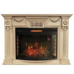 Широкий электрокамин Real-Flame London 33 WT с очагом Firespace 33 S IR