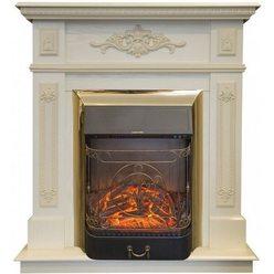 Электрический камин Real-Flame Lilian STD/EUG WT с очагом Majestic s Lux BR