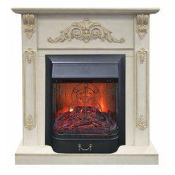 Электрический камин Real-Flame Lilian STD/EUG WT с очагом Majestic s Lux BL